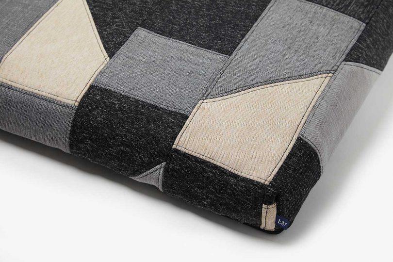patchwork dog bed corner