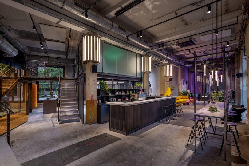Antwerp Club interior and bar