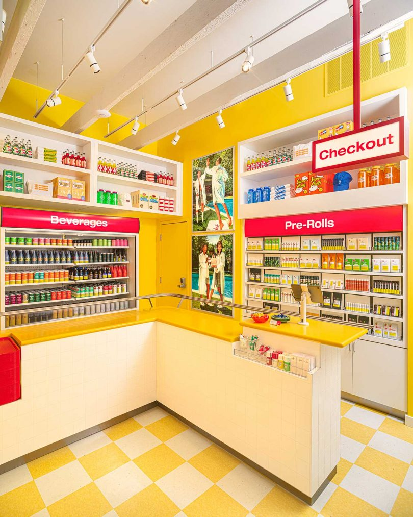 Superette cannabis retail interior