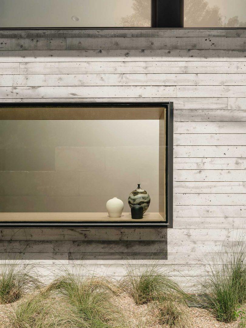 box window on house exterior