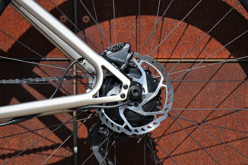 Detail of Shimano GRX 1-11-speed shifting group