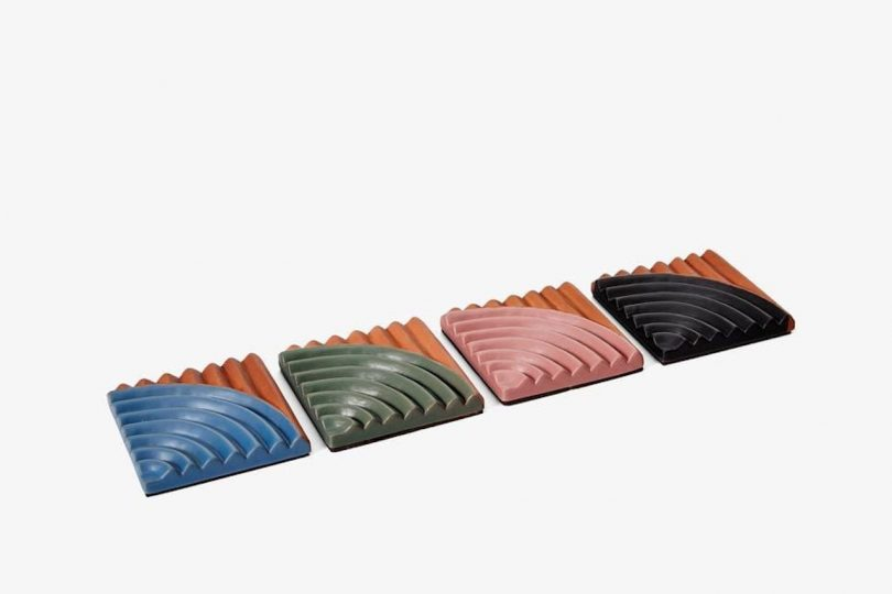glazed terracotta coasters