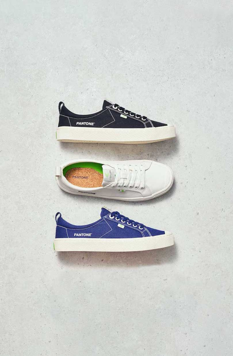 black white and navy sneakers