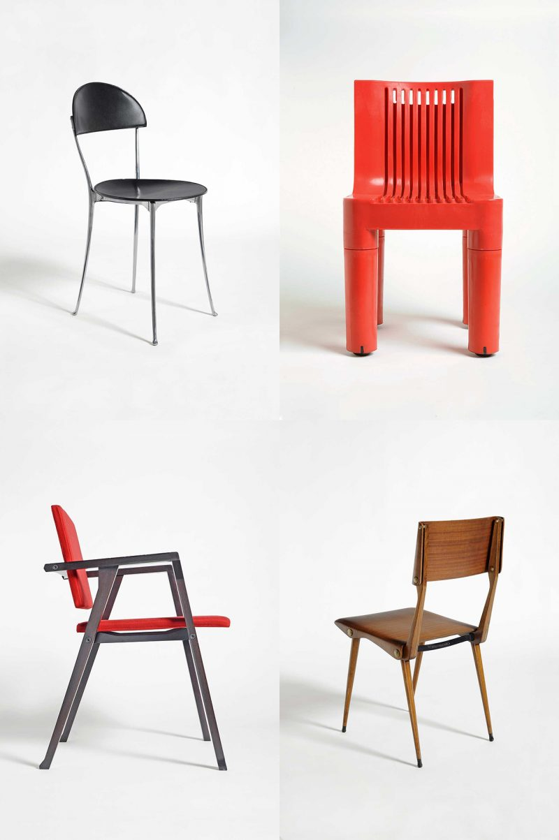 four images of modern chairs