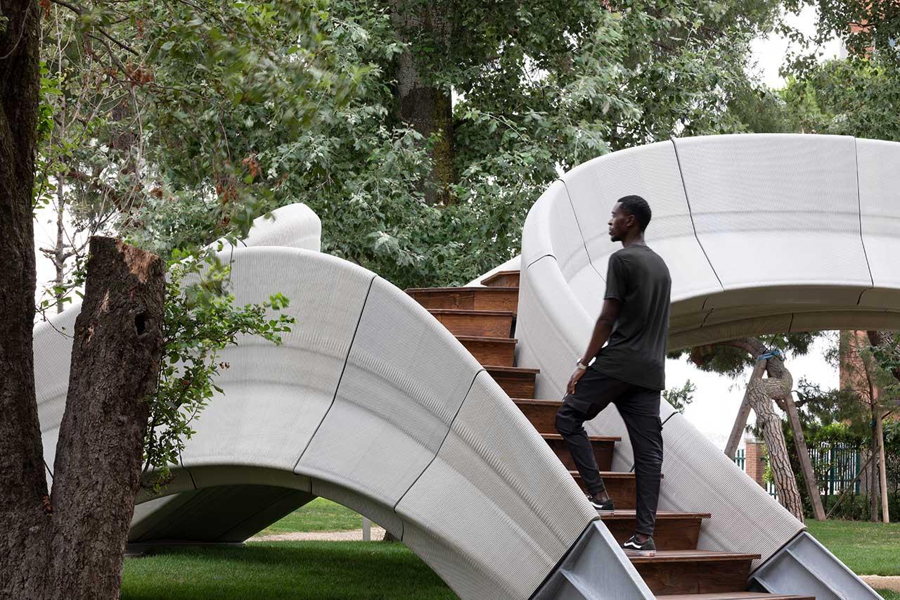 Zaha Hadid Architects Designs a 3D-Printed Bridge Made of Concrete Blocks