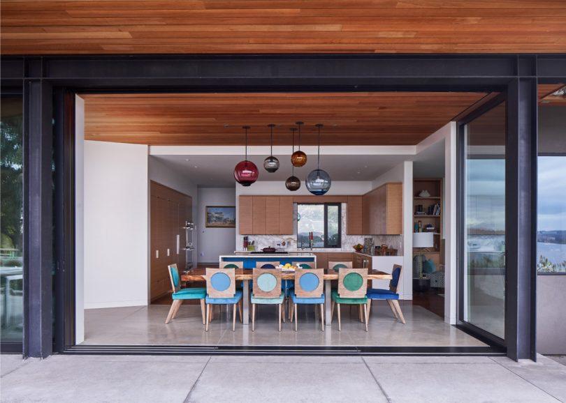 outdoor indoor dining room