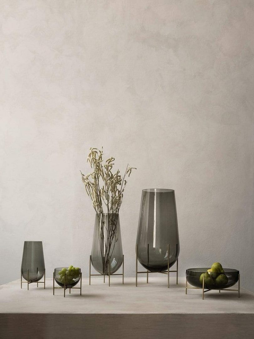 glass vases and bowls