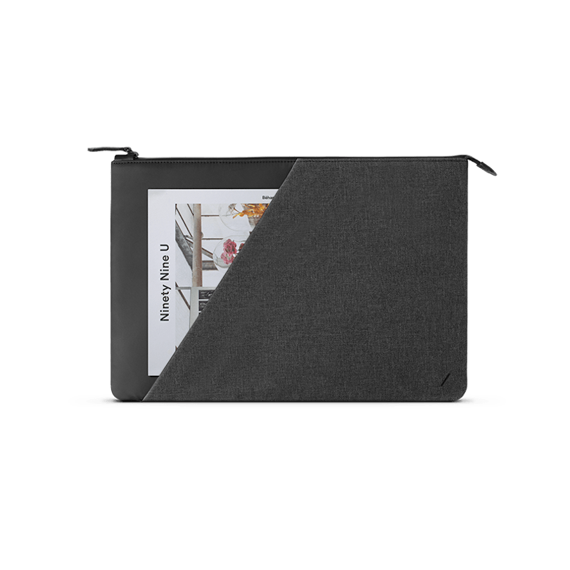 black macbook case with pocket
