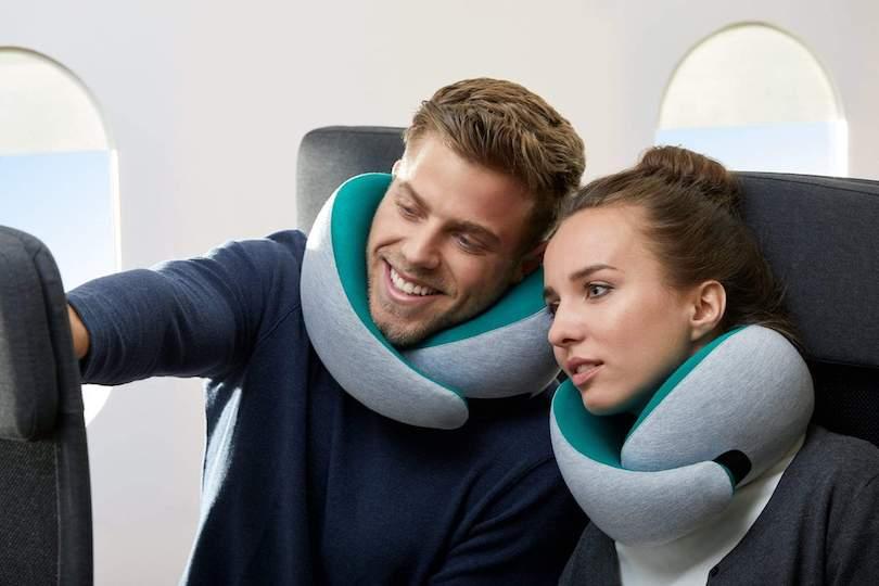 ostrichpillow wraparound travel neck pillow