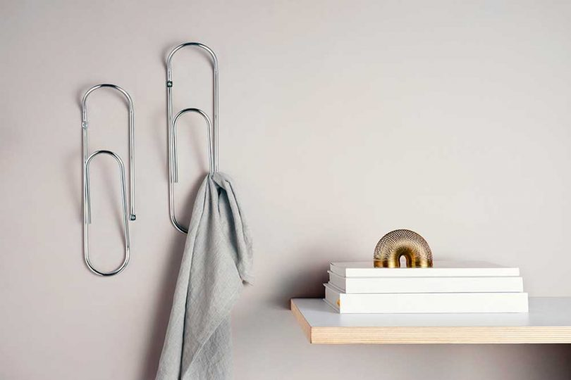 oversized paper clip wall hooks