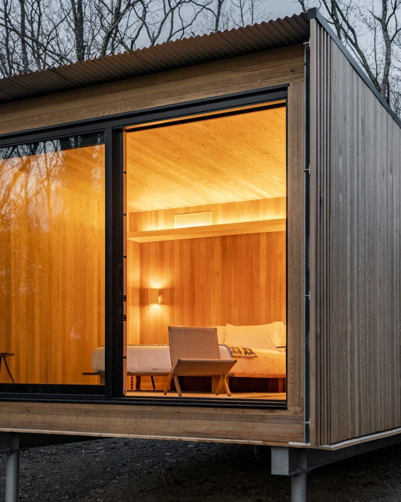 Exterior of Piaule cabin