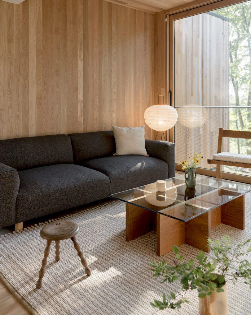 Interior of Piaule two-bedroom cabin