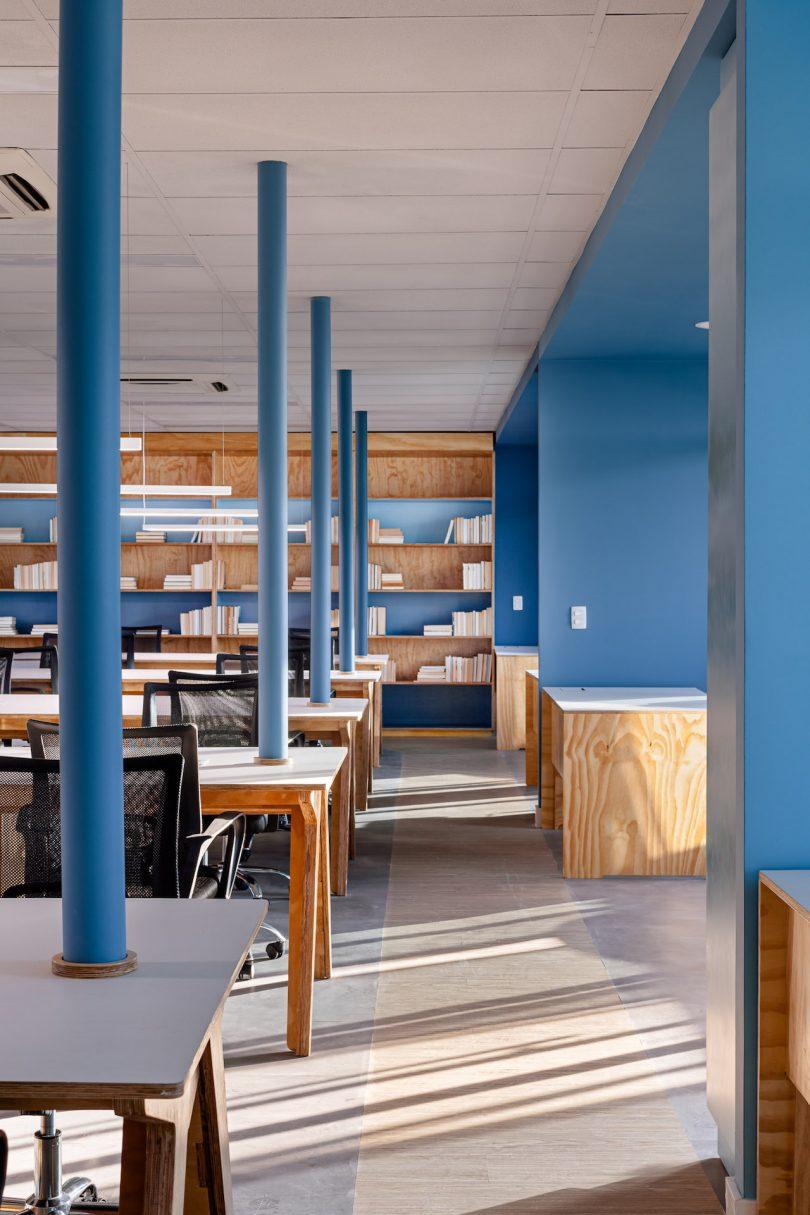 blue modern office