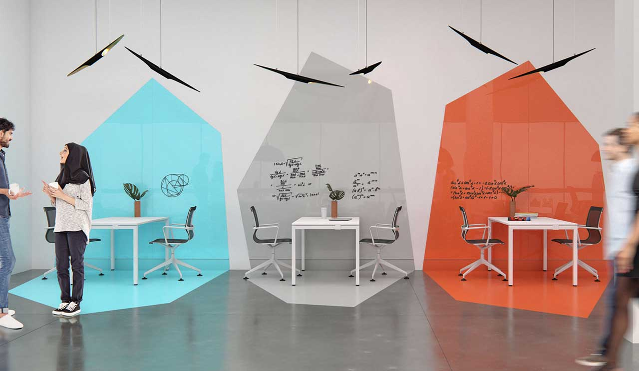 Arden Studio Reinterprets the Ubiquitous Office Writing Boards, Screens + Panels