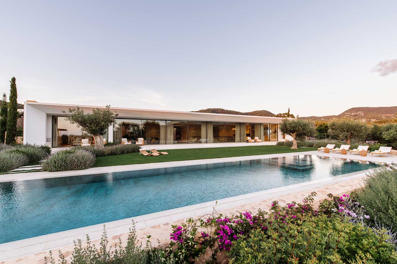 Modernist Ibizan Villa Constructed Inside Ecologically Impressed Group