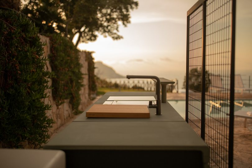 detail of open space kitchen outdoors