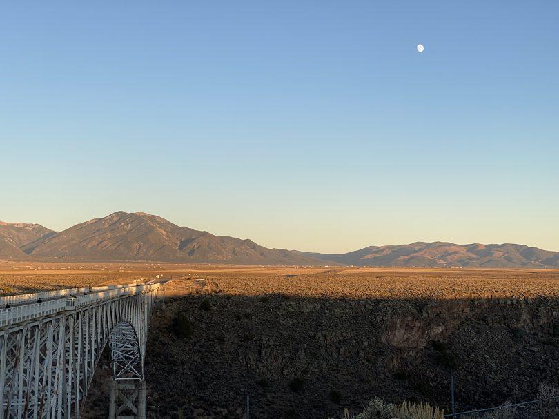 desert landscape with wide blue sky
