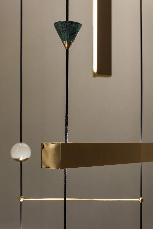 detail of light fixture