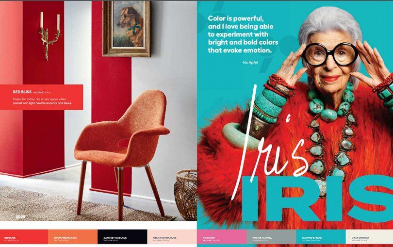 Lowe's ad with Iris Apfel