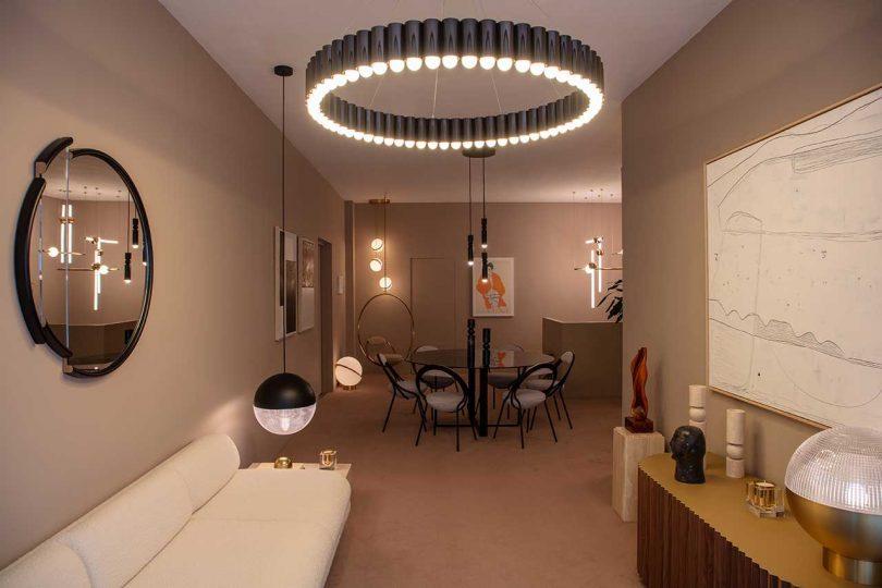 modern showroom featuring furnishings by Lee Broom