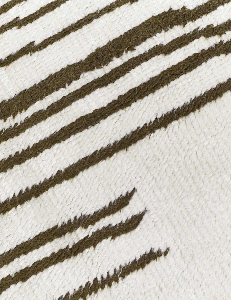 closeup of modern rug