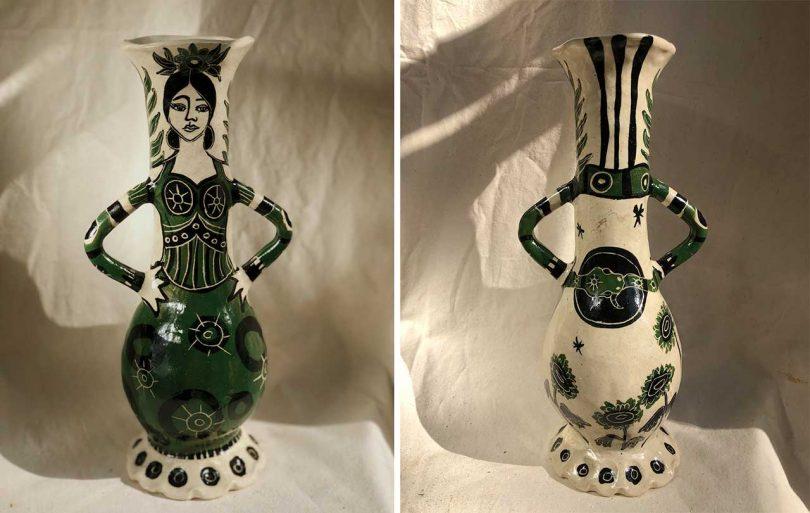 Vase shown back and front at Milan Design Week