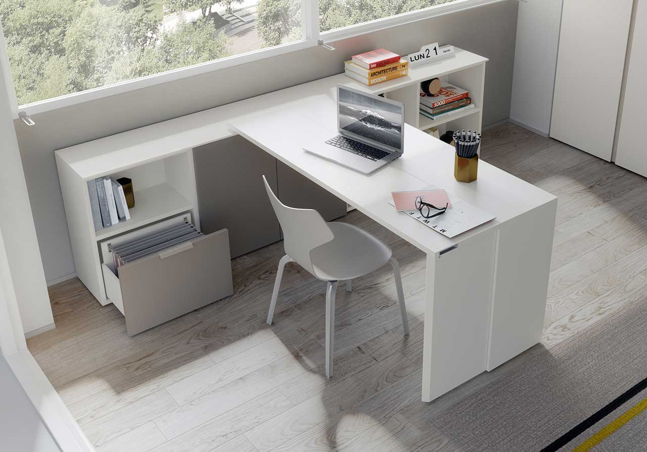 Resource Furniture's Giro Takes You From Desk to Dining Table for Four