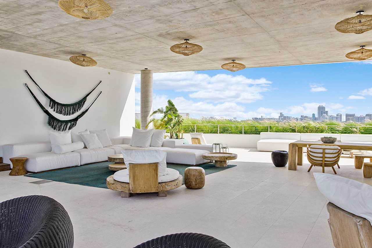 Sky Home Is a Bali-Impressed Penthouse in a Former Miami Hospital