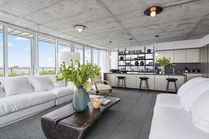 modern open living space with