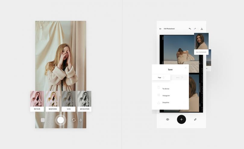 capturas de pantalla en paralelo de la aplicación móvil