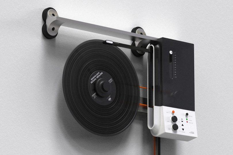 wall mounted modern turntable