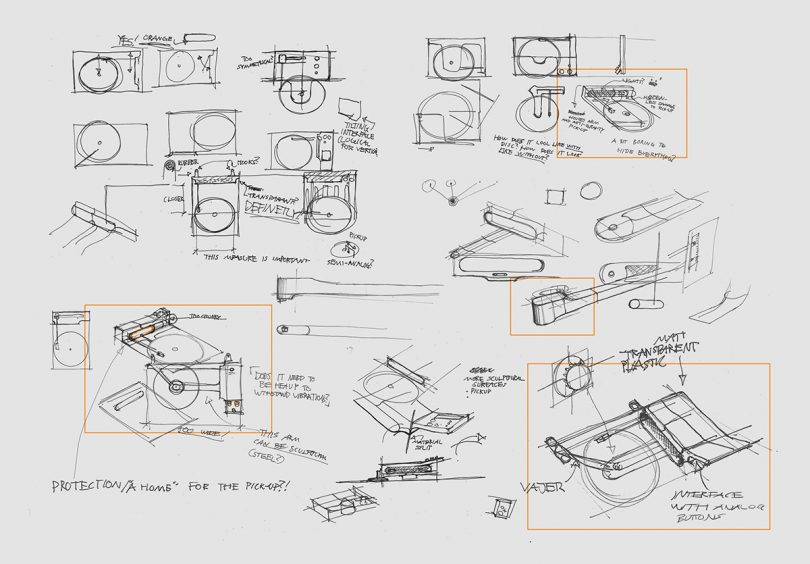 sketches of wall mounted modern turntable design