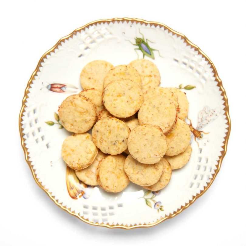 traditional plate with cookies