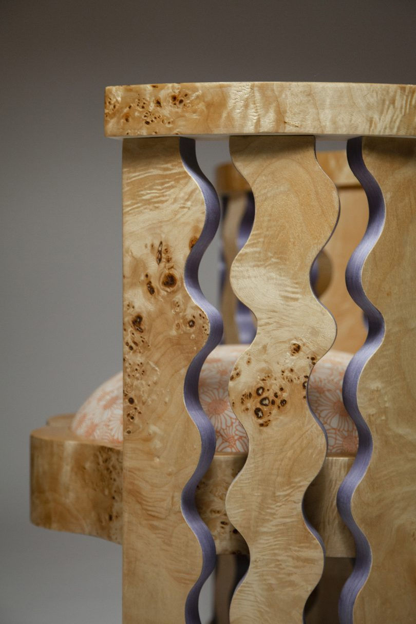 armchair wood detail