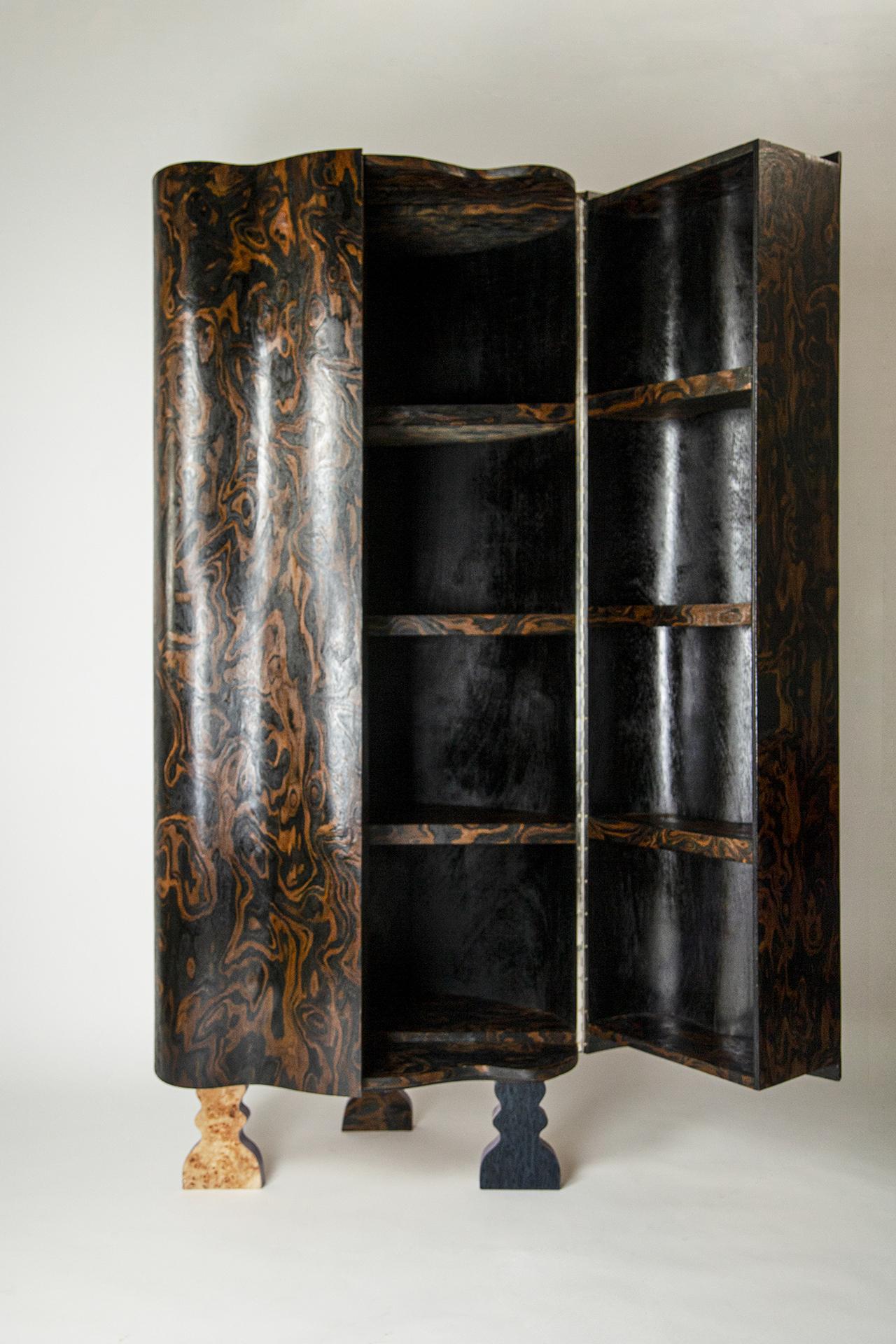dark wood bar cabinet