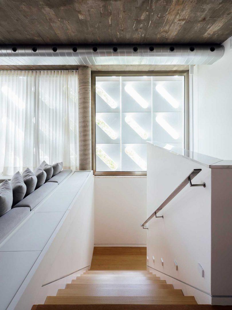 open stairwell in modern house