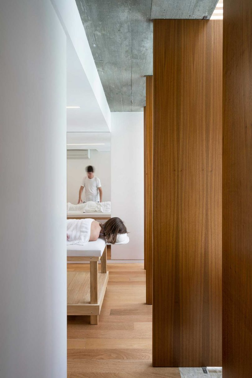 view into massage room of modern house