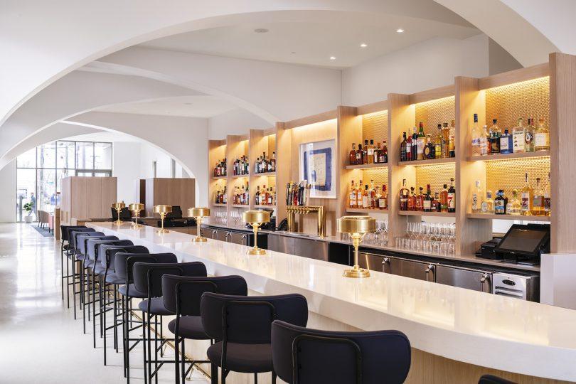 modern hotel lobby bar