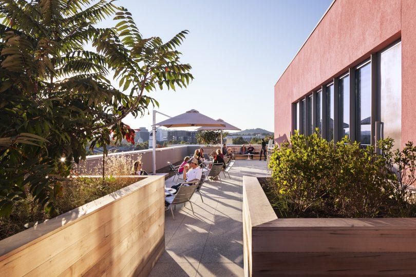 modern hotel rooftop