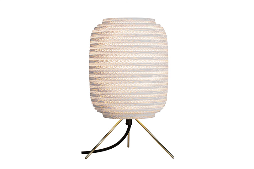 ausi white table lamp by graypants inc on a plain white background