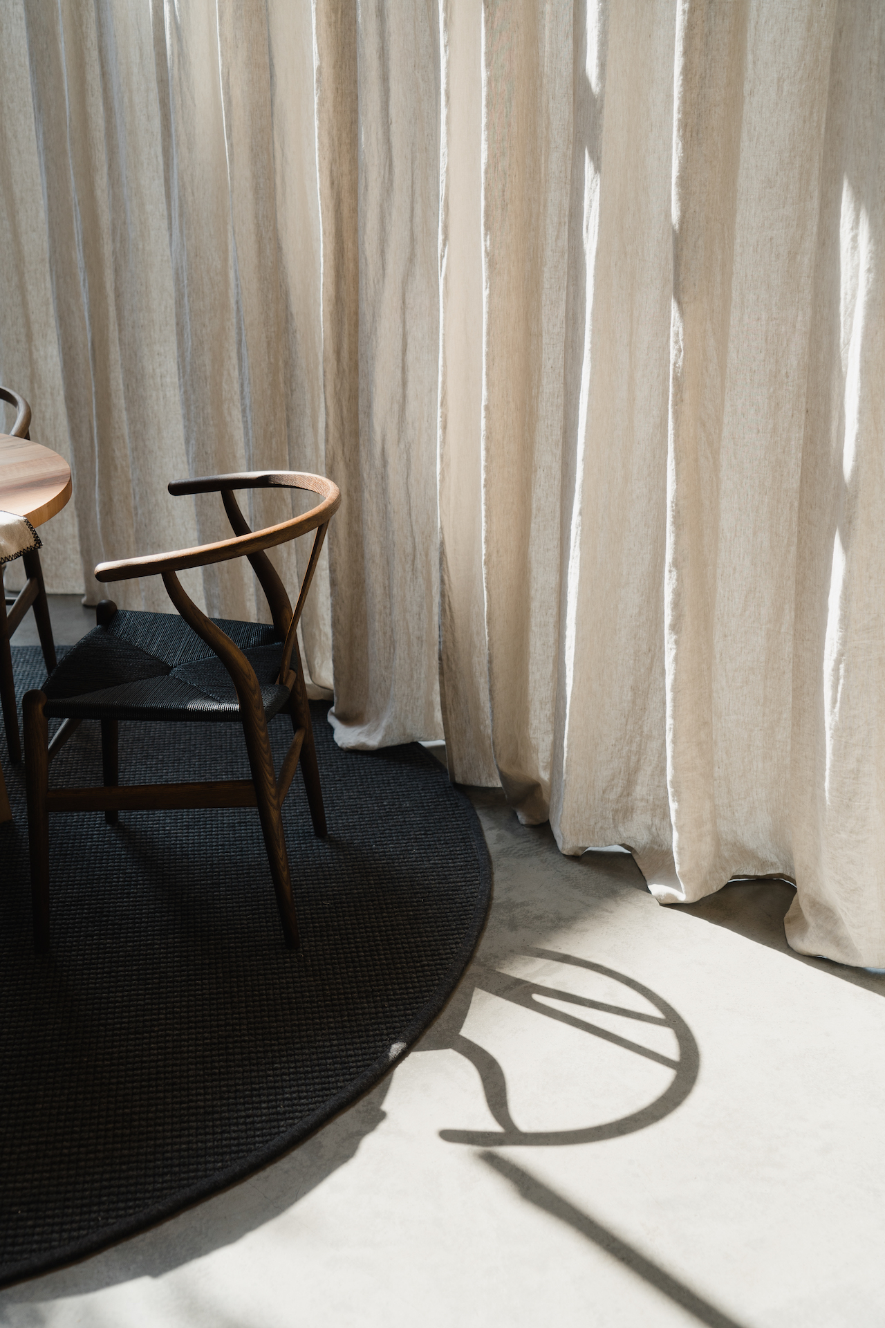 Ambient shot of Wishbone Chair in natural light