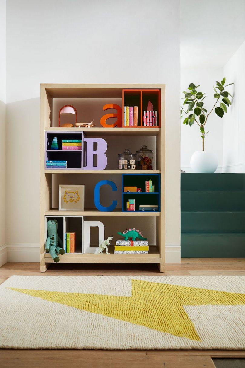 estante infantil colorido moderno