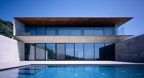 Infinity Is a Minimal Hilltop Weekend Home in Okinawa