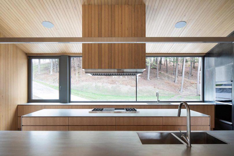 Kitchen with panoramic windows