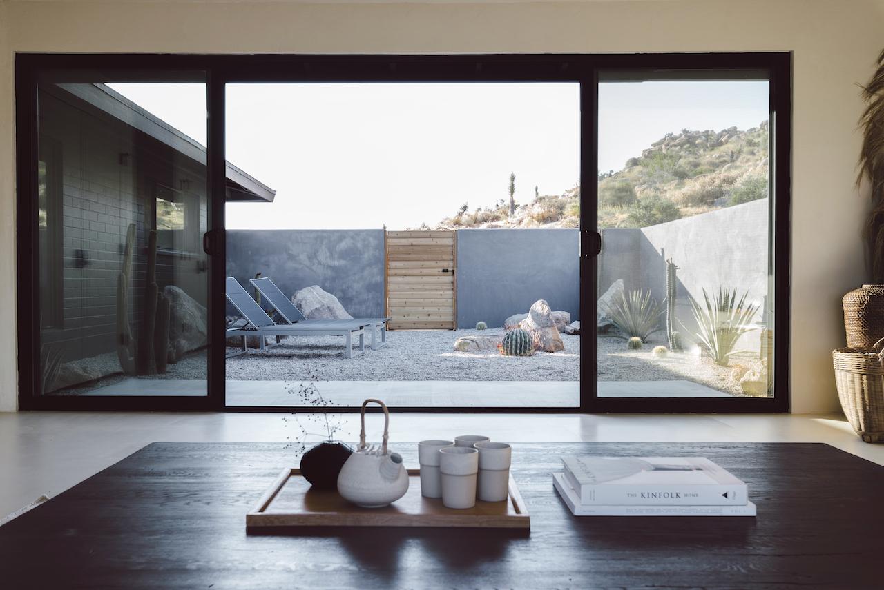 desert vacation house tea room