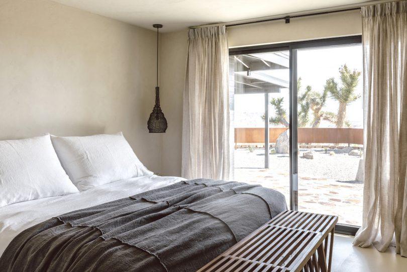 desert vacation house bedroom