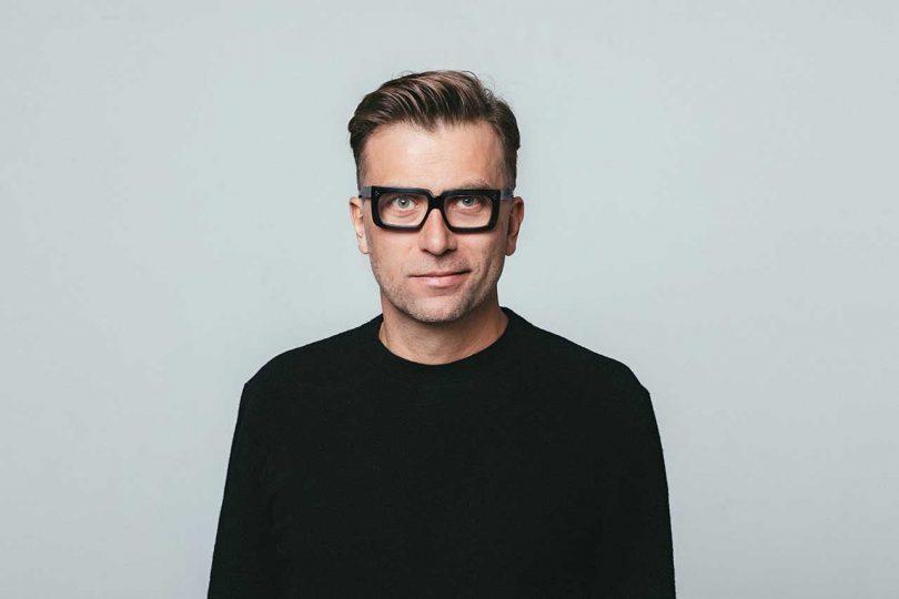 portrait of designer Tomek Rygalik
