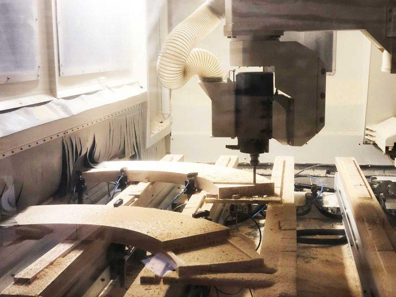 CNC milling wood pieces
