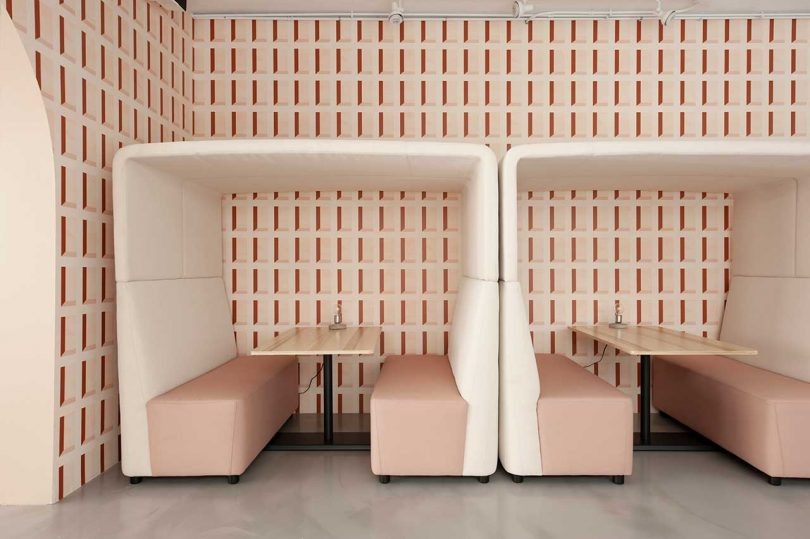modern privacy work booths with acoustic covers