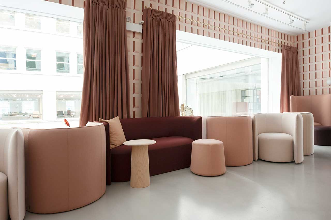 group of modern seating for private work situations